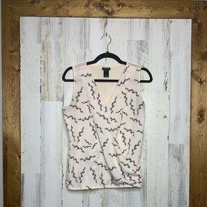 Ann Taylor factory pink wrap blouse sleeveless